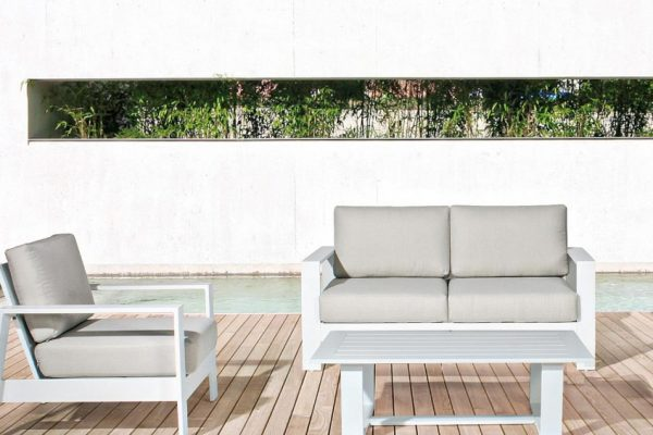 sofá de exterior para piscina