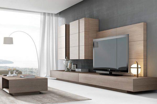 Mueble salón estilo moderno de Abrito