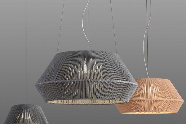 lamparas de techo de cuerda de Ole by FM iluminación