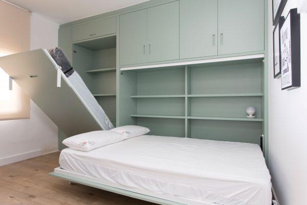 cama abatible tegar mobel color verde
