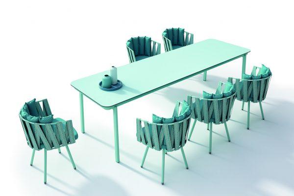 mesa y sillones de exterior indecasa