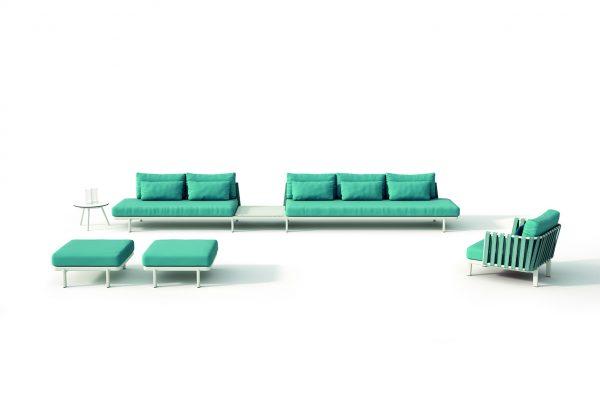conjunto de mobiliario de exterior