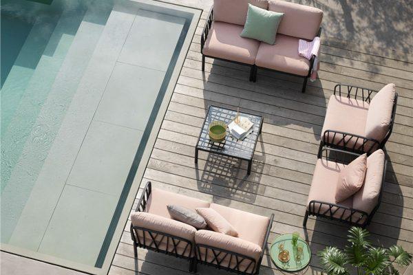 sofá de exterior para piscina de Nardi