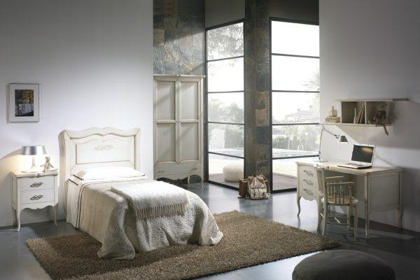 cama juvenil estilo romántico de Oleana