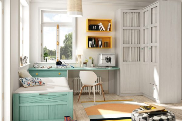 Dormitorio juvenil en madera de Grupo Seys