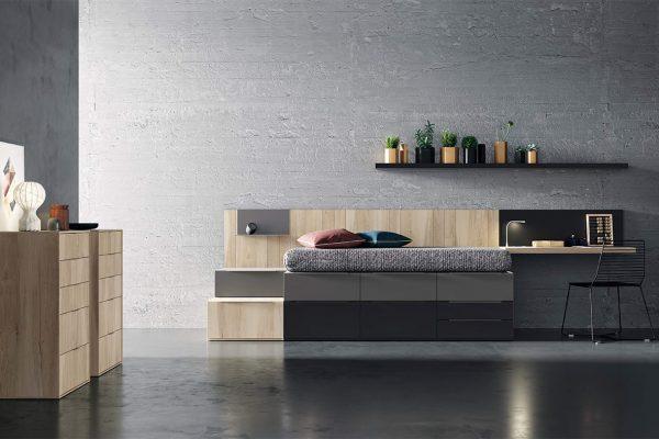 cama con cajones para dormitorio infantil de Tegar Mobel