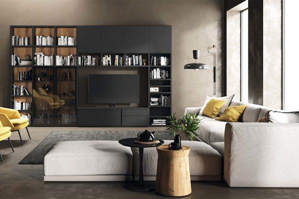 librería para salón estilo moderno de tegar mobel