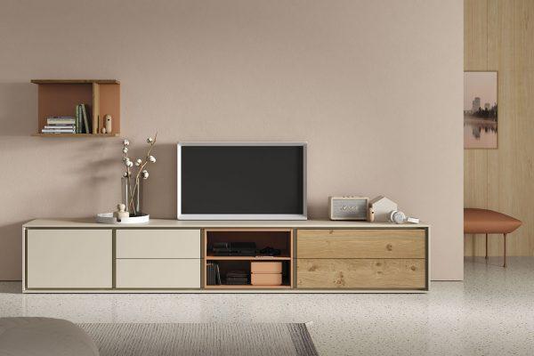 mueble tv en chapa natural de Vive
