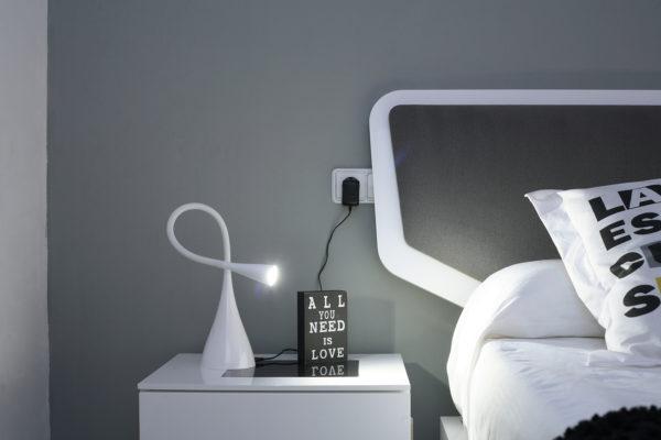 cabecero tapizado moderno para cama matrimonio