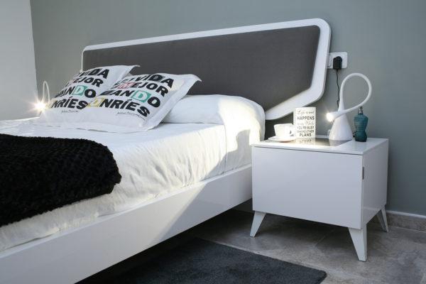 dormitorio matrimonio estilo moderno color blanco