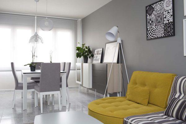 sofá tapizado amarillo de fama sofás