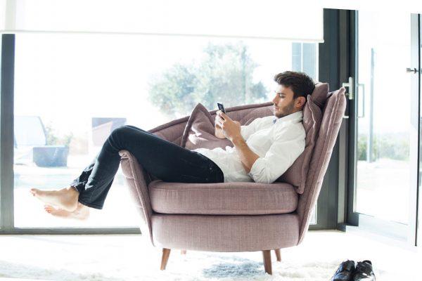 sillón de lectura Volta de Fama