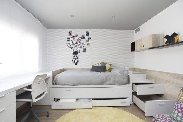 cama doble dormitorio juvenil