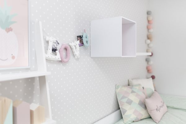 guirnaldas decorativas dormitorio infantil color rosa