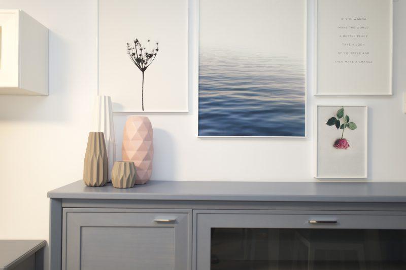 composición de cuadros decorativos