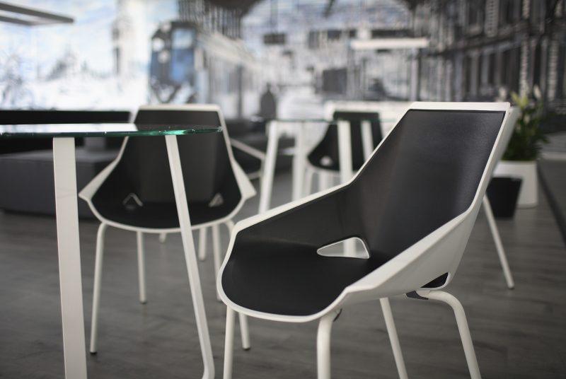 silla de diseño en polipropileno