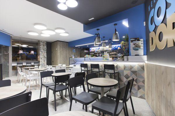 Mesa redonda para bar