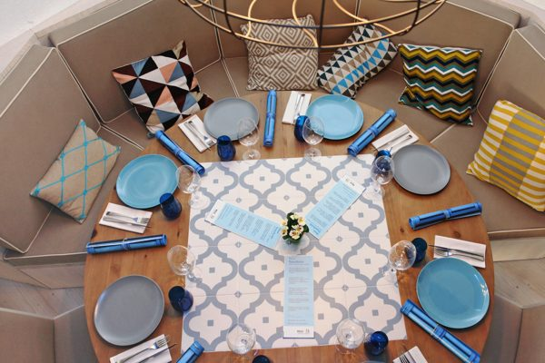 mesa redonda para restaurante